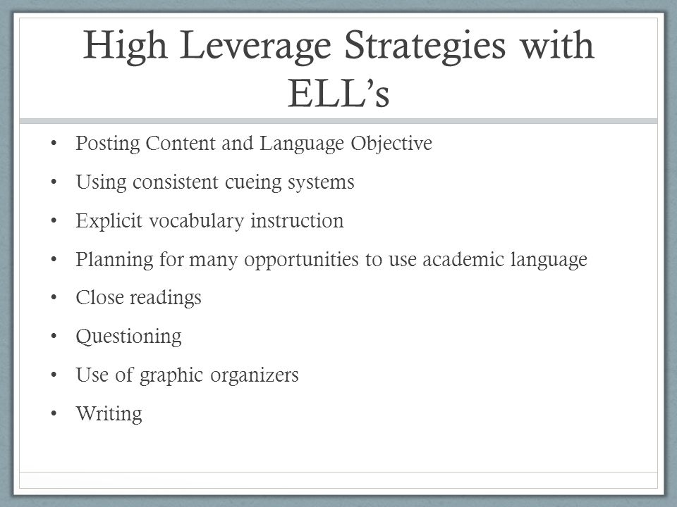 Strategies For Using Reading Interventions With English Language