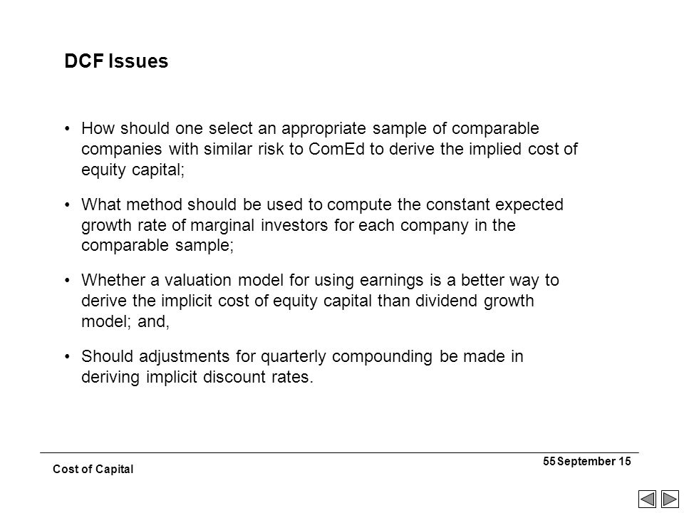 the implicit cost of capital is