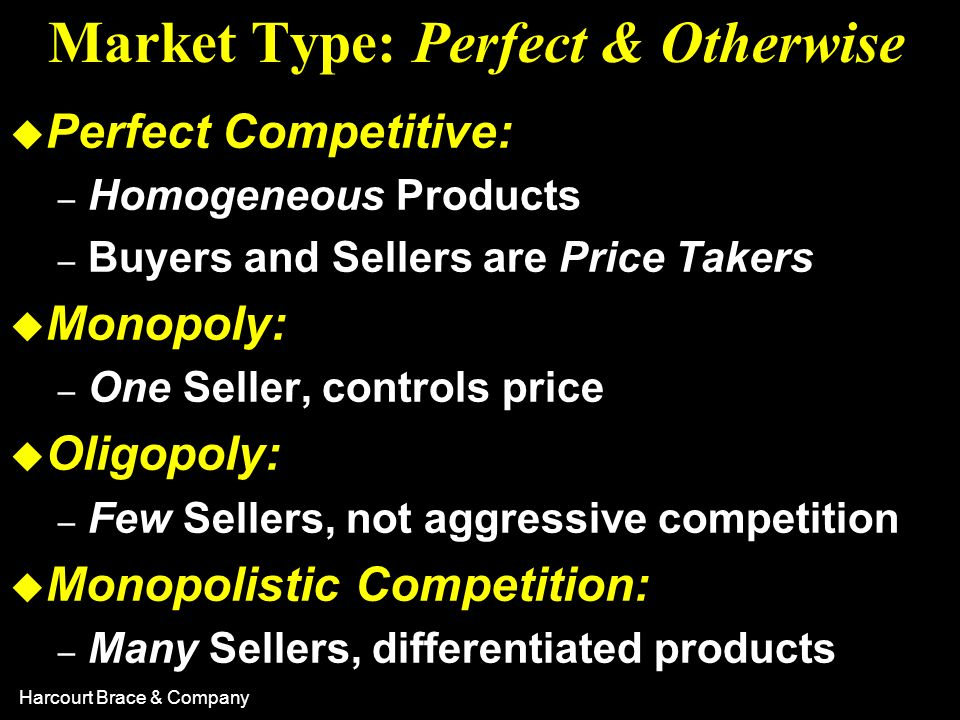 Market Type: Perfect & Otherwise