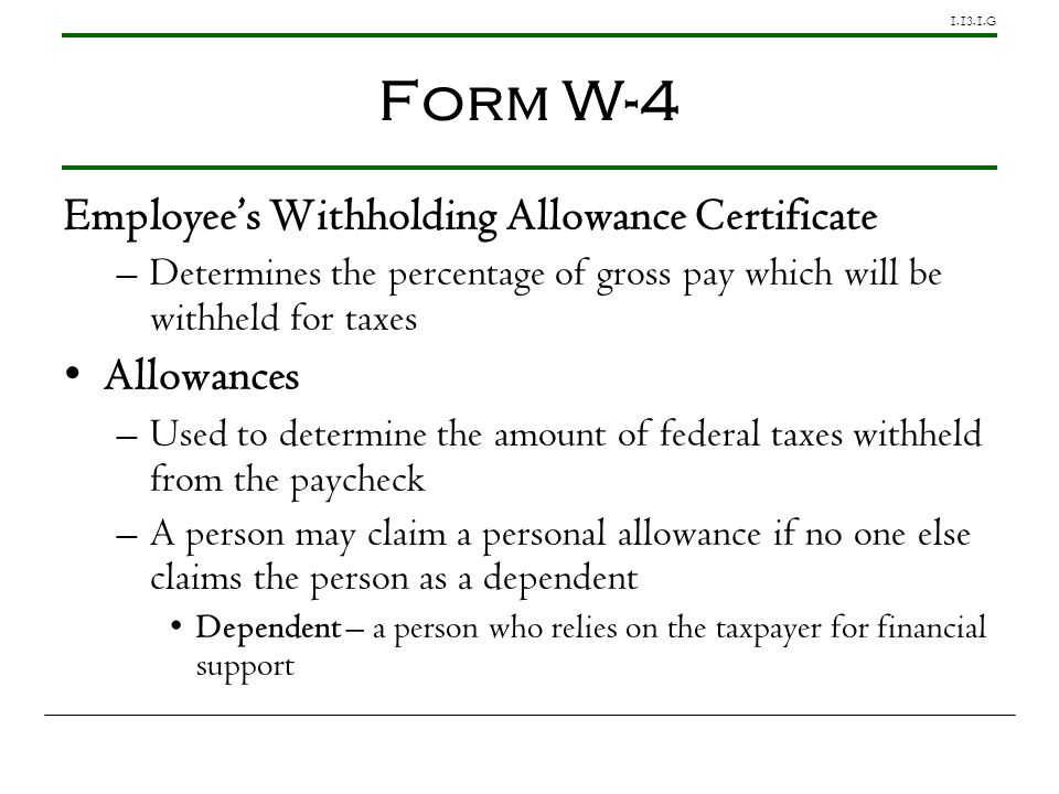 Form W-4 Employee's Withholding Allowance Certificate Allowances