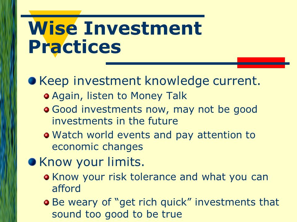 Wise investment practices sifuforex tools direct