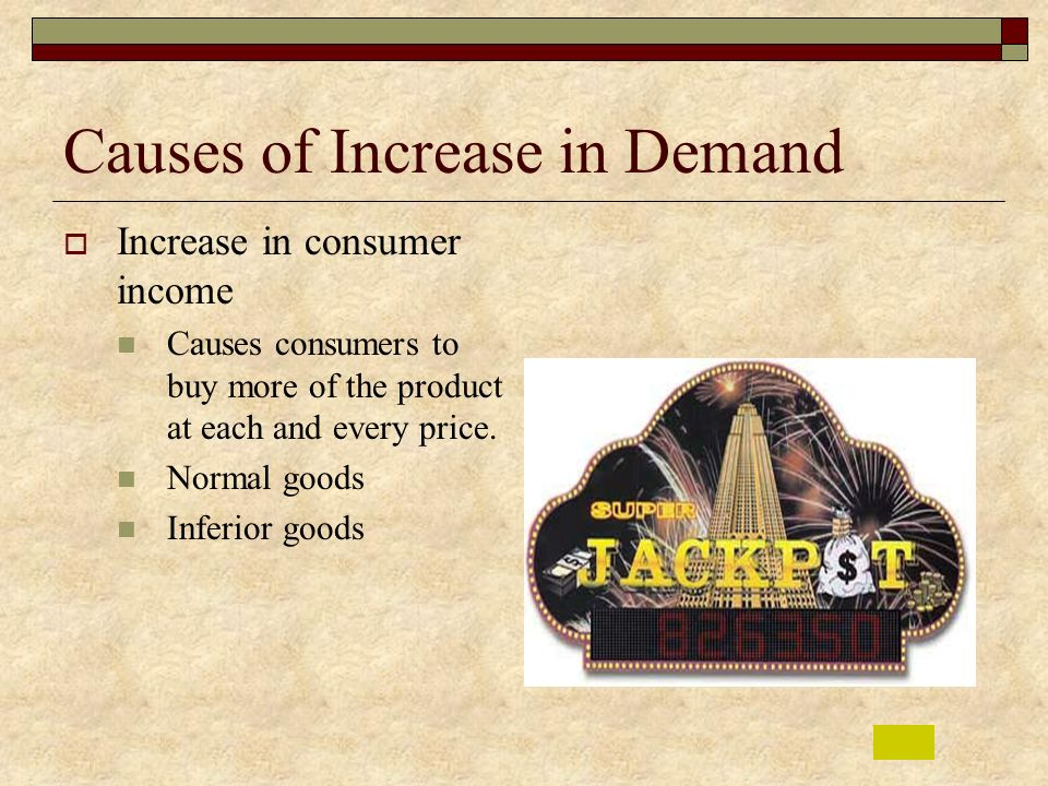 Causes of Increase in Demand