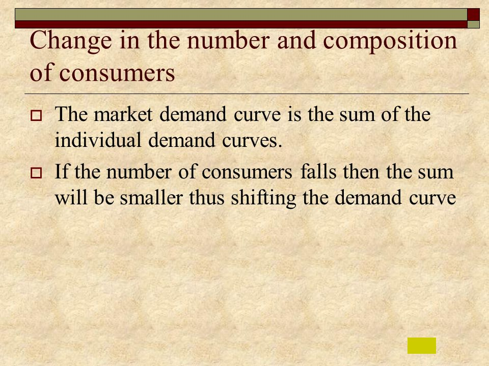 Change in the number and composition of consumers