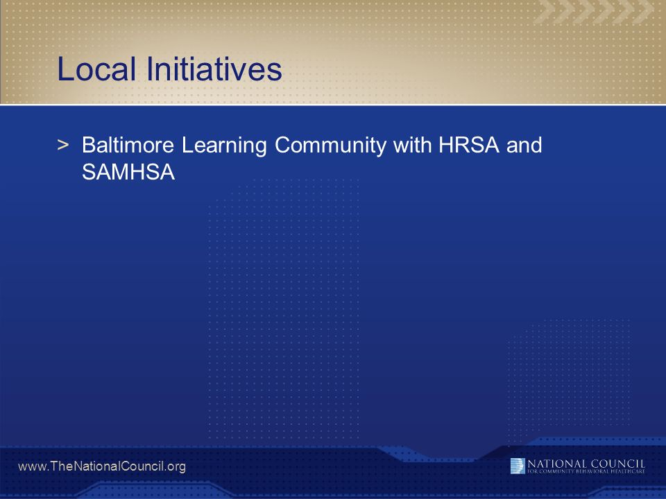 Local Initiatives Baltimore Learning Community with HRSA and SAMHSA