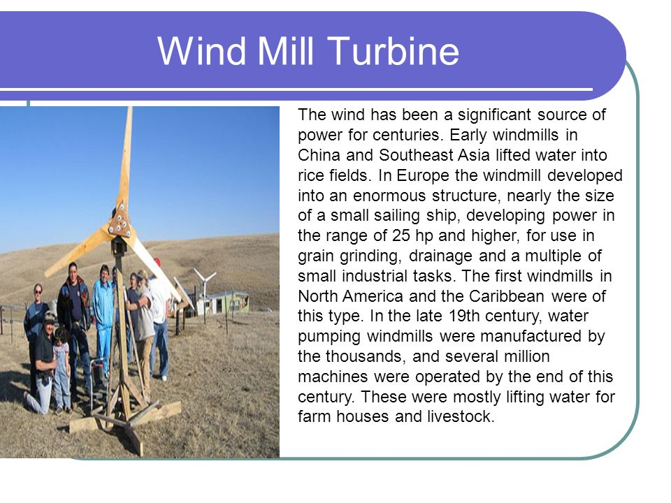 Wind Mill Turbine