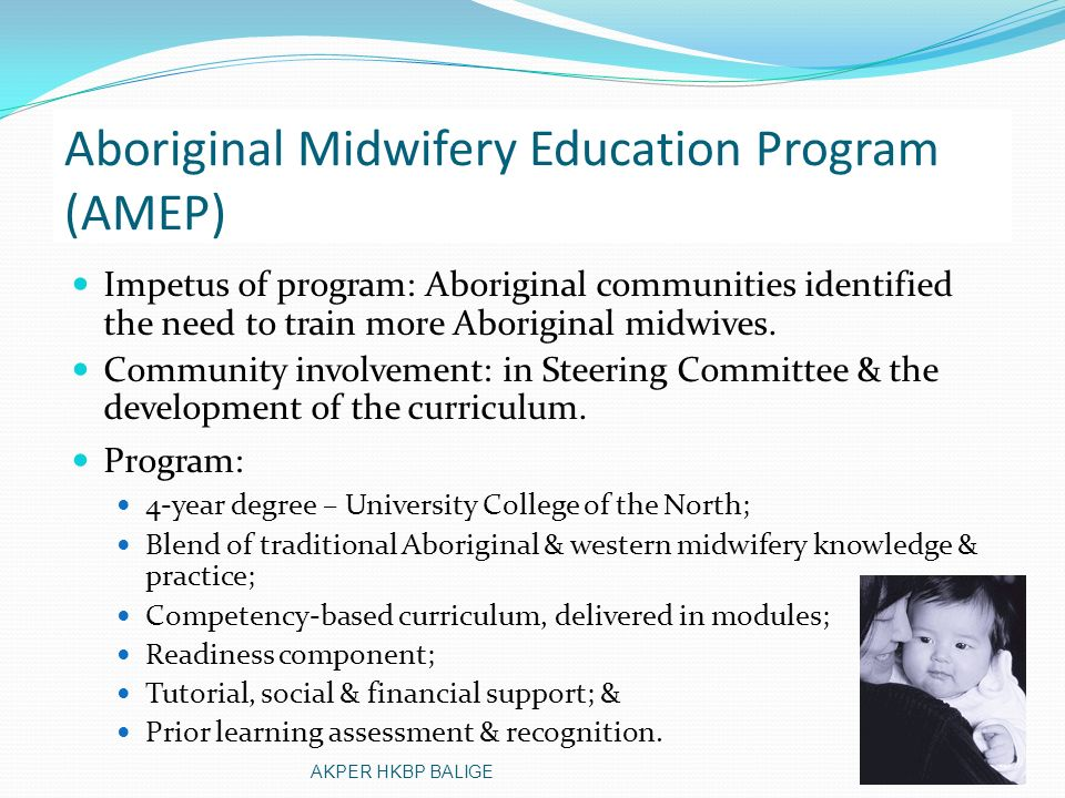 Aboriginal Midwifery Education Program (AMEP)