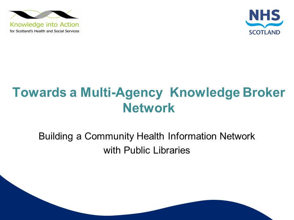 Towards a Multi-Agency Knowledge Broker Network