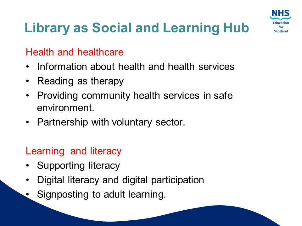 Library as Social and Learning Hub