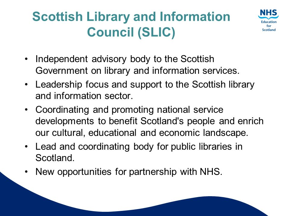 Scottish Library and Information Council (SLIC)