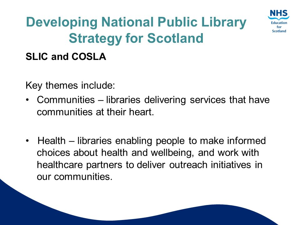 Developing National Public Library Strategy for Scotland