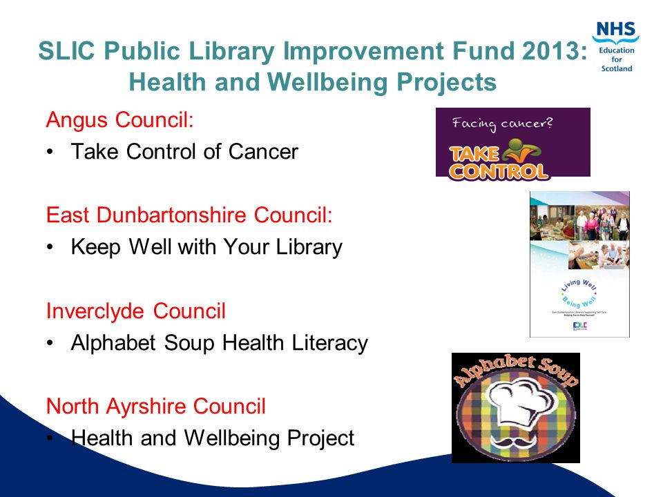 SLIC Public Library Improvement Fund 2013: Health and Wellbeing Projects