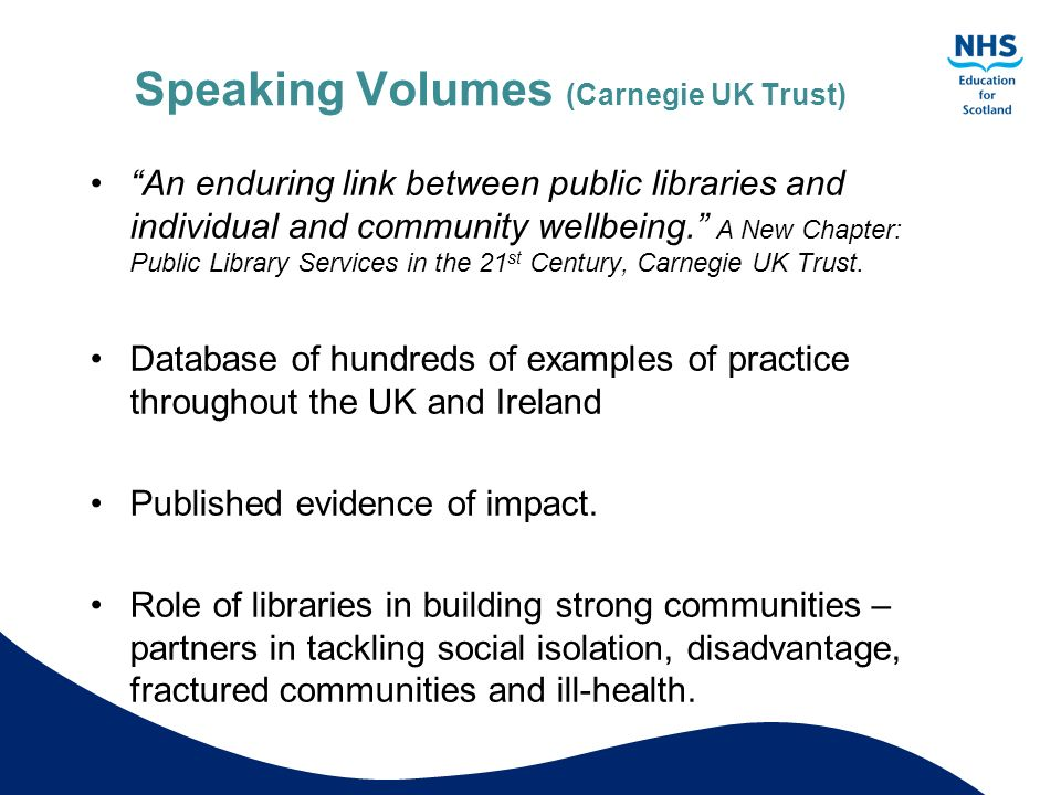 Speaking Volumes (Carnegie UK Trust)