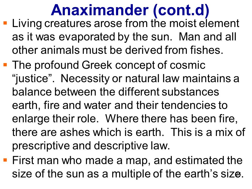anaximander on nature