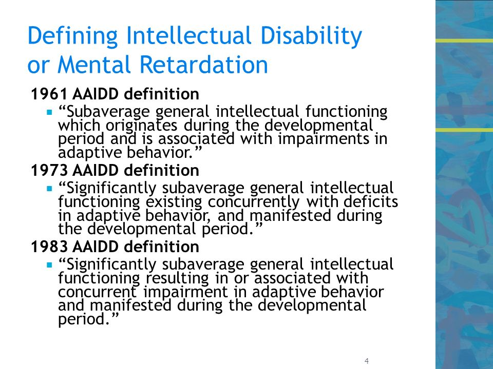 individuals with intellectual disabilities or mental retardation