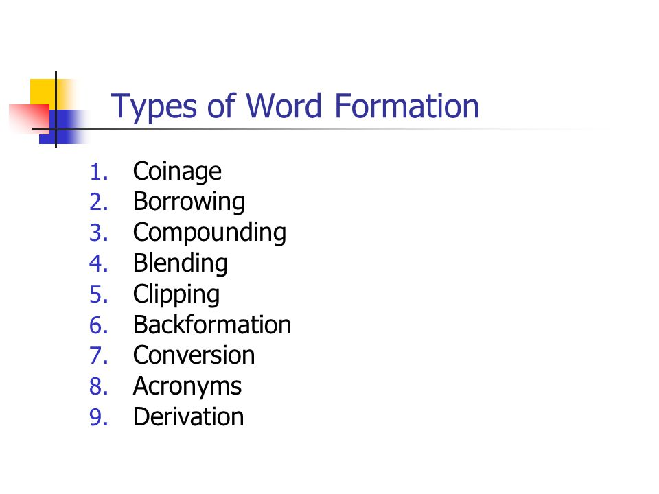 Word Formation Processes Ppt Video Online Download - Word formation