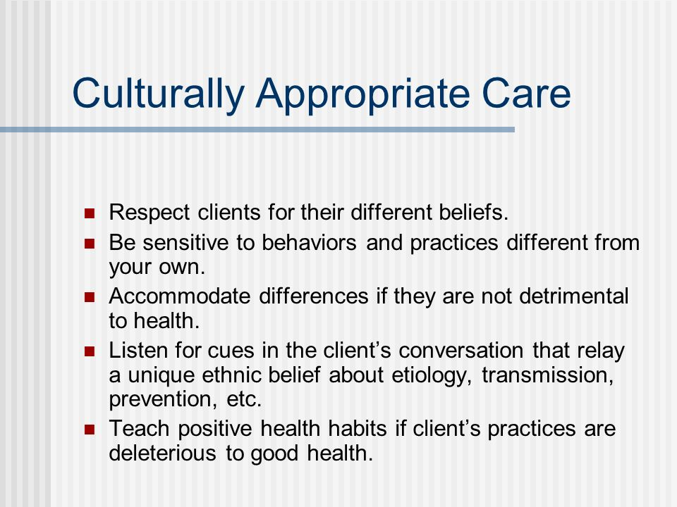 Culturally Appropriate Care