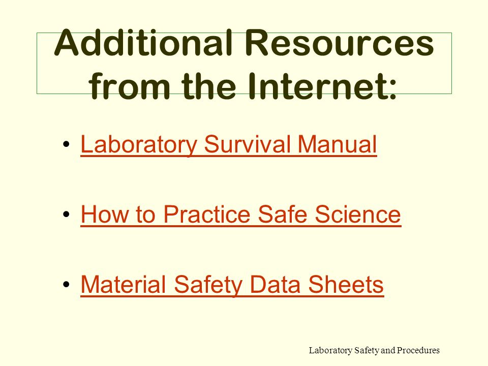 Additional Resources from the Internet: