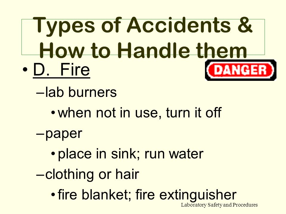 Types of Accidents & How to Handle them