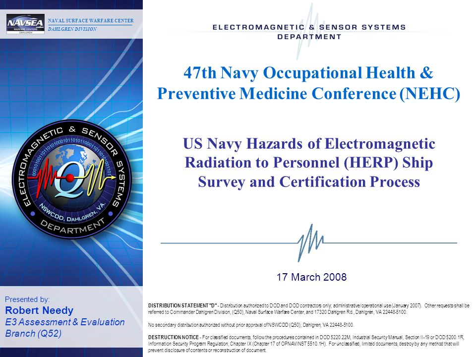 47th Navy Occupational Health & Preventive Medicine Conference (NEHC)