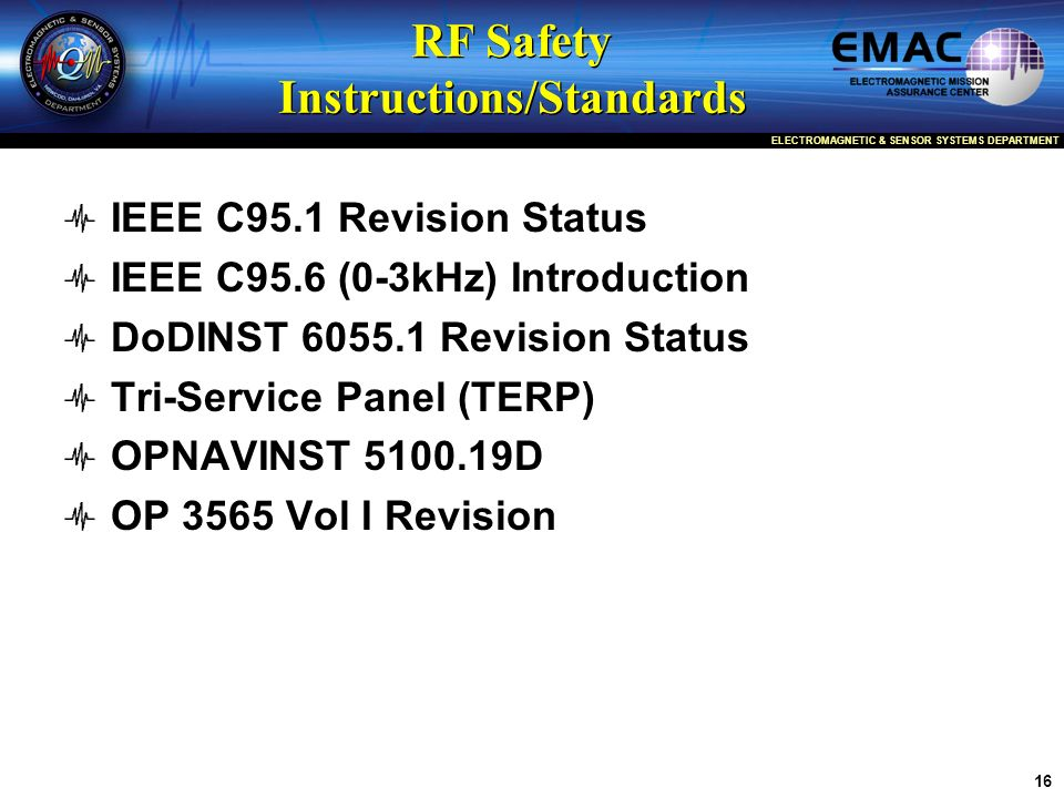 RF Safety Instructions/Standards