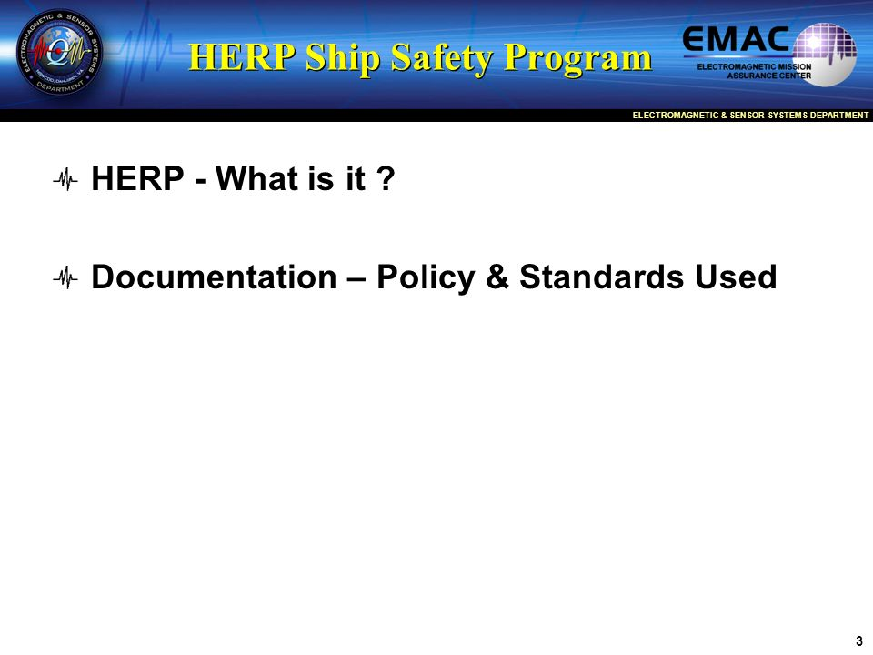 HERP Ship Safety Program