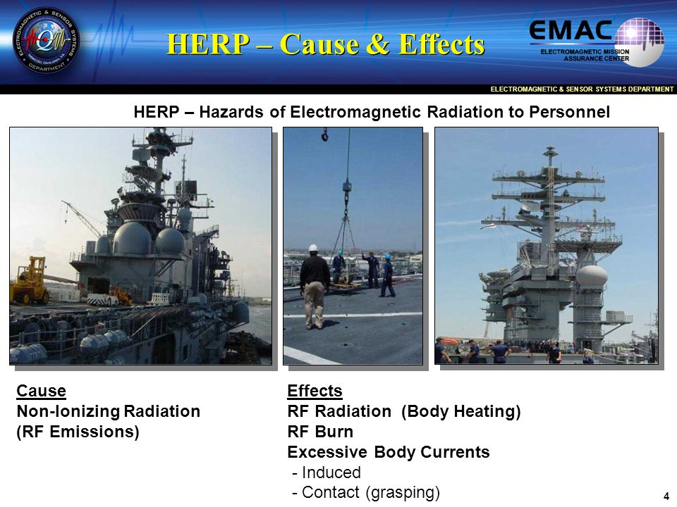 HERP – Hazards of Electromagnetic Radiation to Personnel