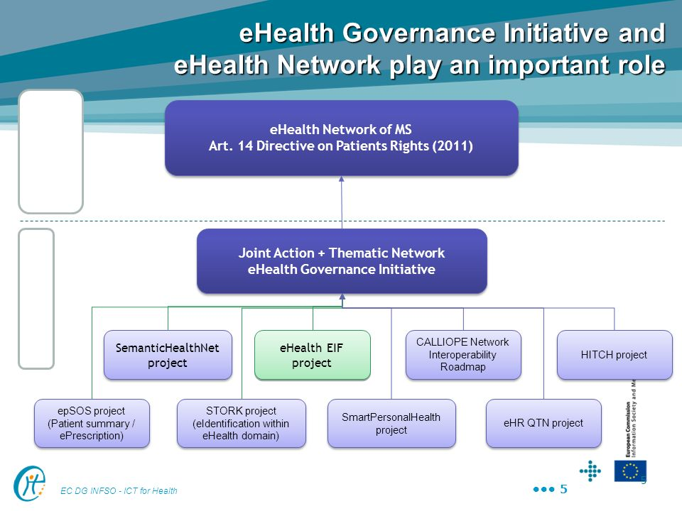 eHealth Governance Initiative and eHealth Network play an important role