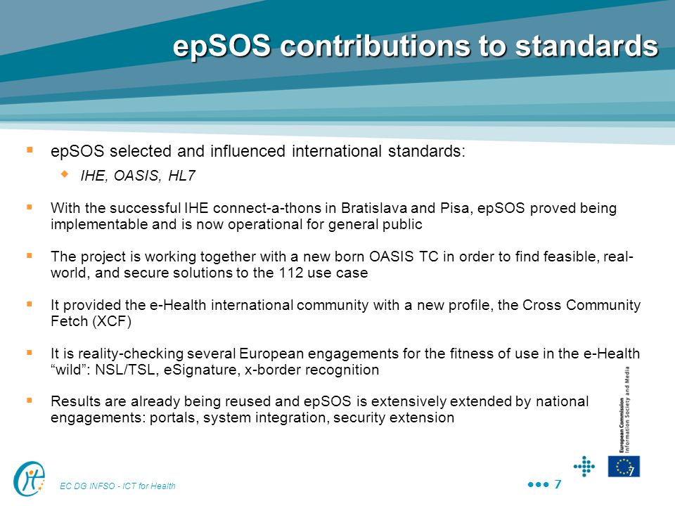epSOS contributions to standards