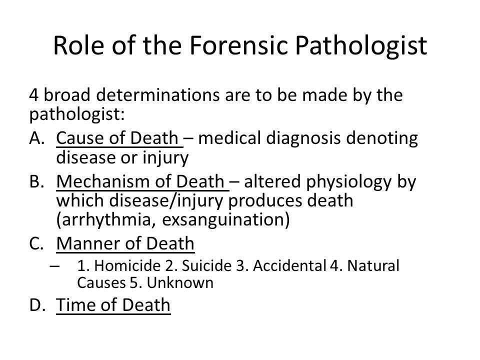 forensic pathologist responsibilities
