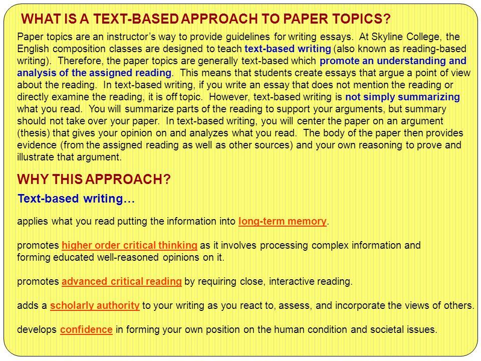 critical thinking paper topics