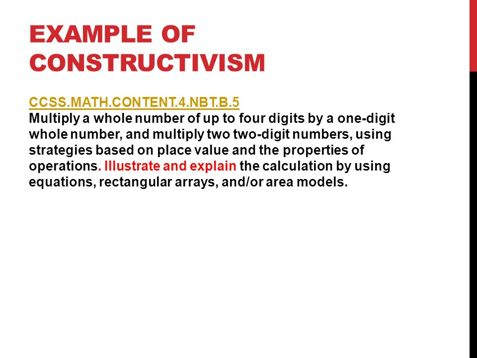 Examples of constructivism youtube.