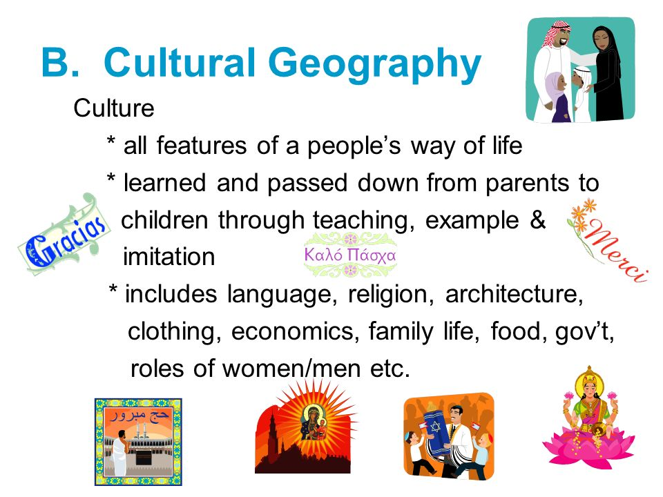cultural geography intro Culture: an introduction notes 2 indian culture and heritage secondary course module - i understanding culture that we have inherited as members of society.