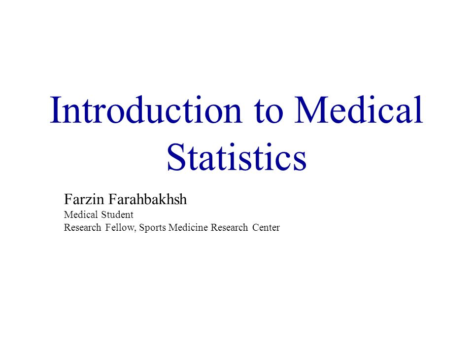Introduction to Medical Statistics - ppt download