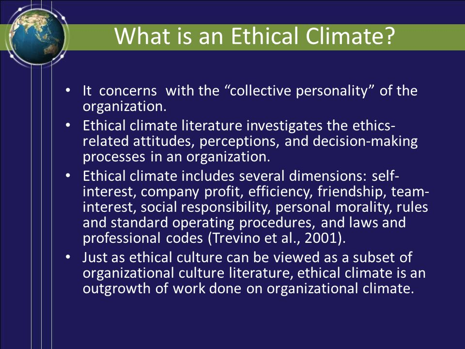 ethical climate definition