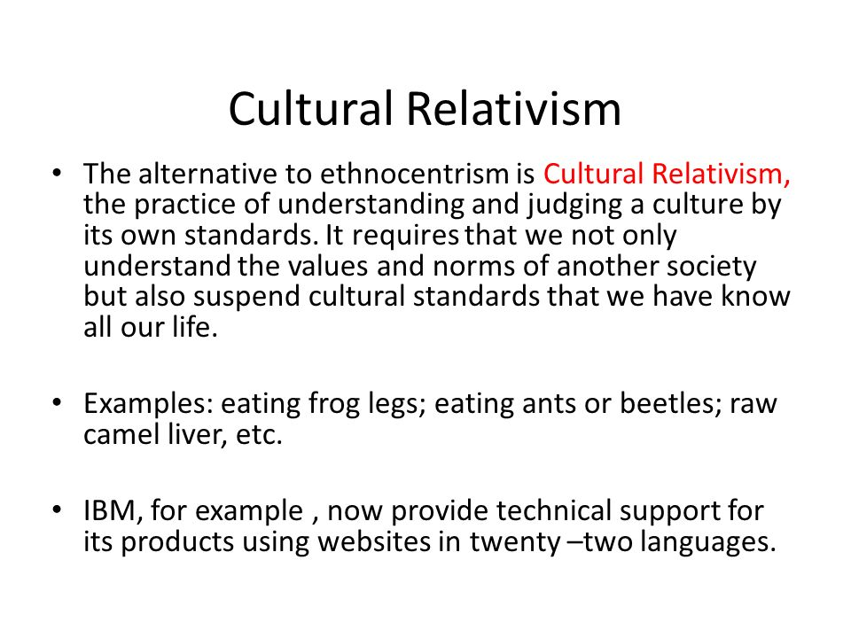 Example Of Cultural Relativism Image Collections Example Cover