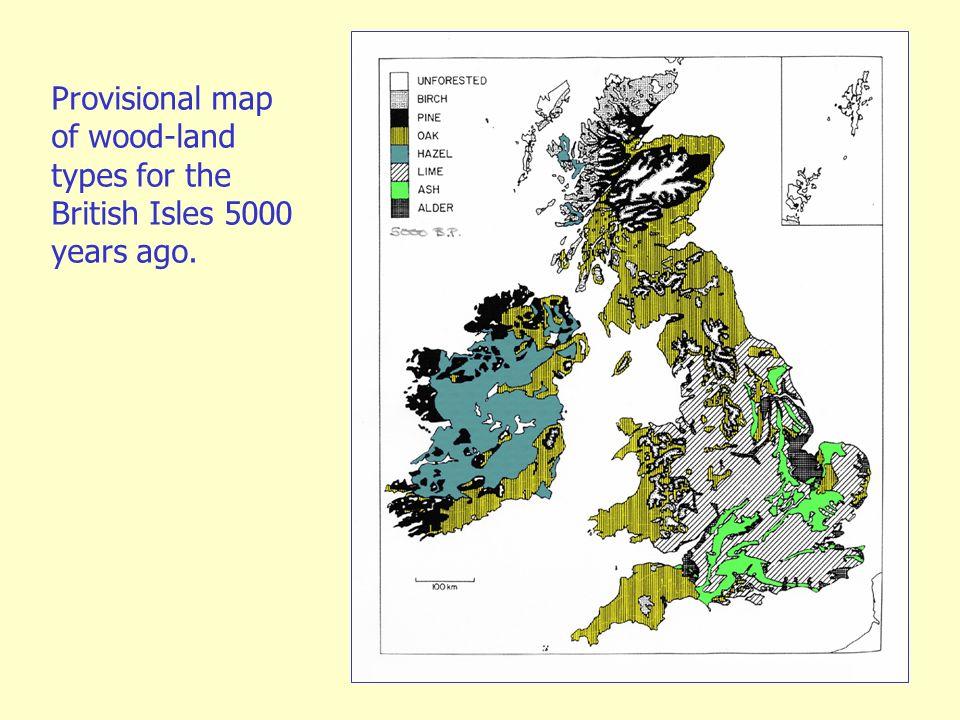 Map Of Uk 5000 Years Ago.Quantitative Methods In Palaeoecology And Palaeoclimatology Ppt