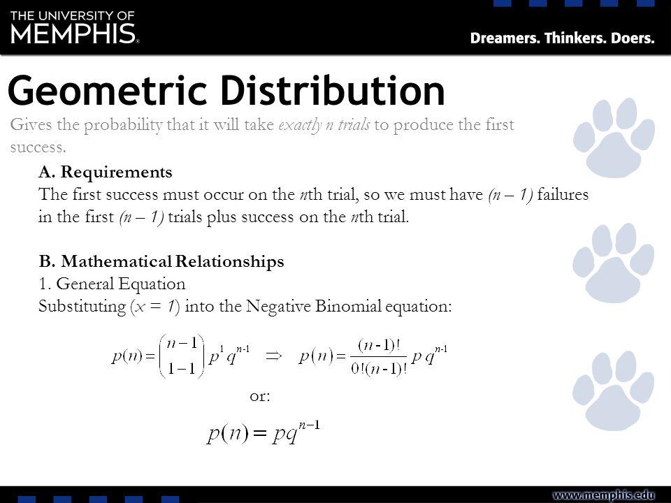 Discrete Distributions Ppt Video Online Download. Geometric Distribution. Worksheet. Negative Binomial Distribution Worksheet At Mspartners.co
