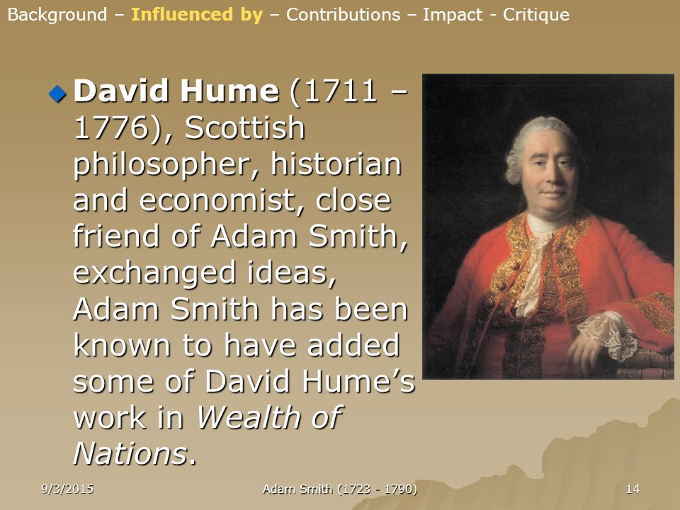 adam smith contributions