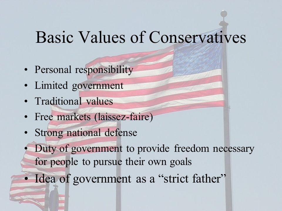 Basic Values of Conservatives