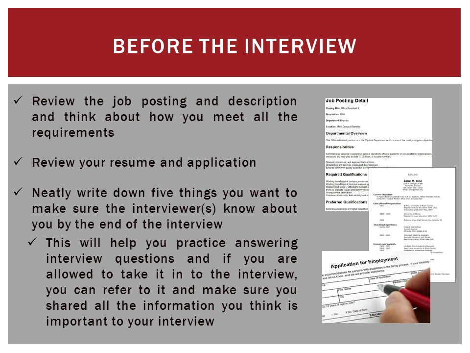 The Job Interview Content Based On Unm Career Services