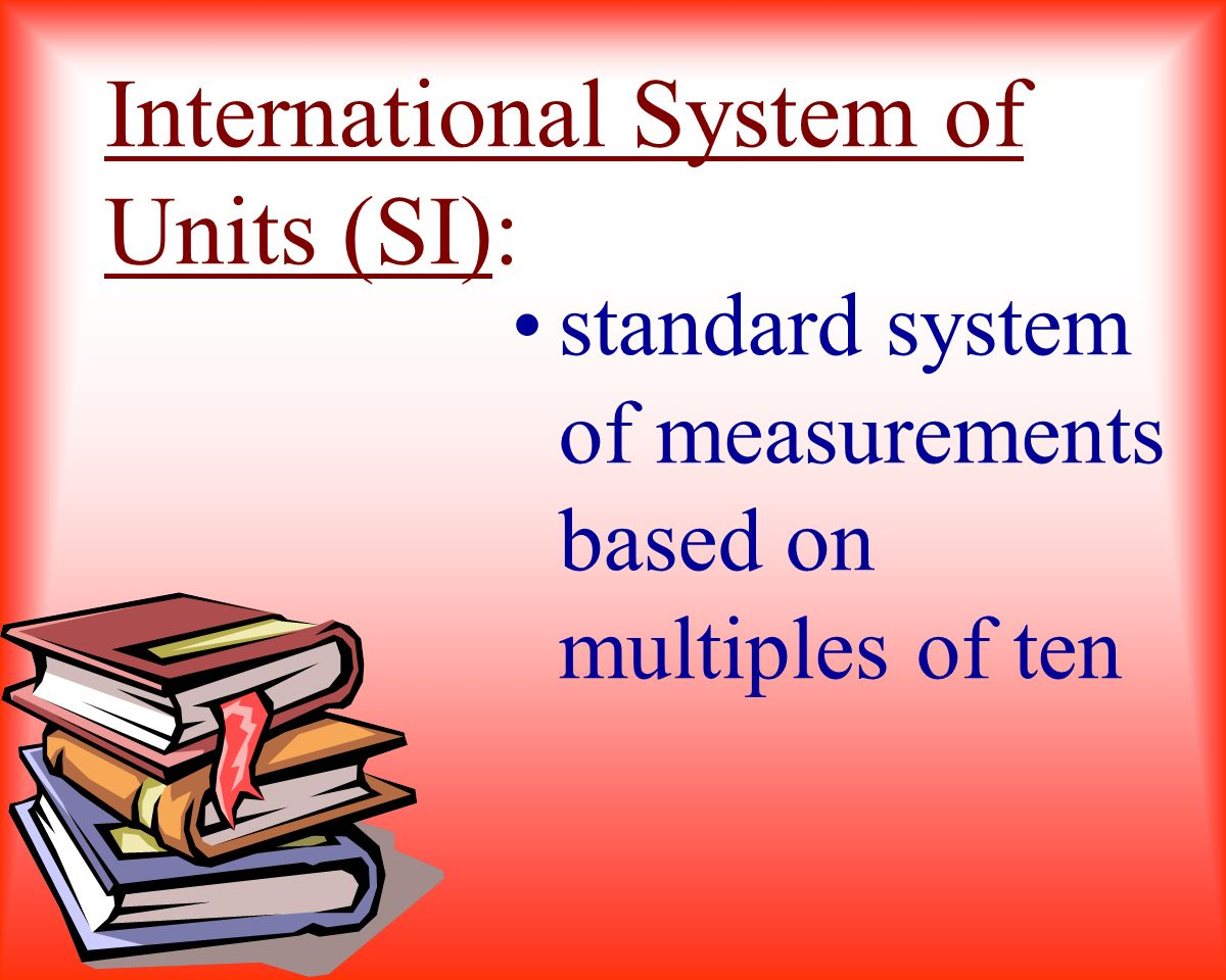 International System of Units (SI):