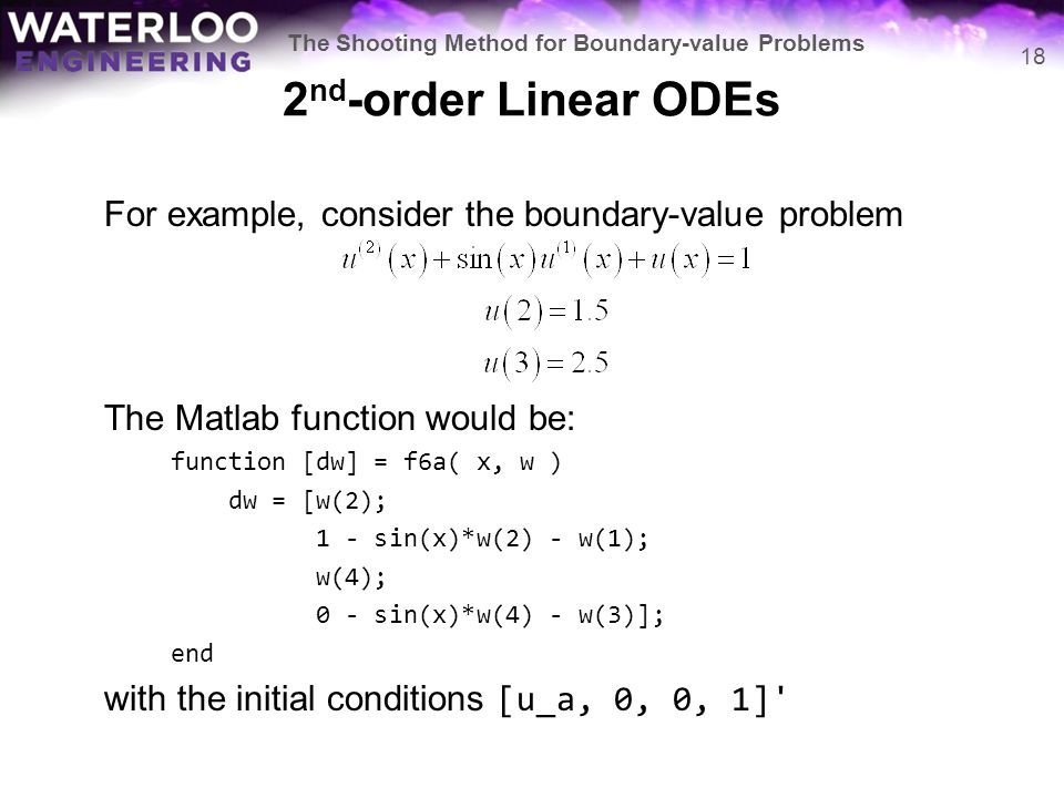 The Shooting Method for Boundary-value Problems - ppt video