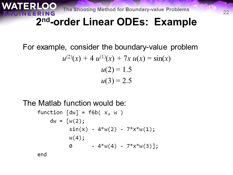 The Shooting Method for Boundary-value Problems - ppt video online