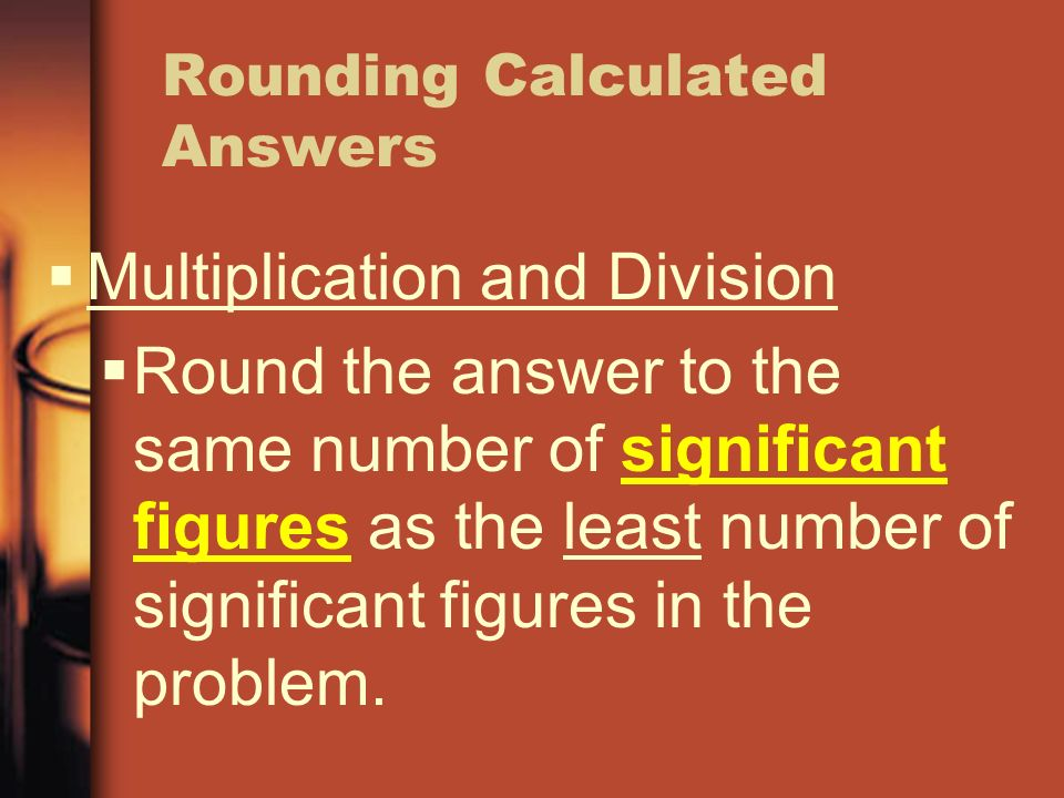 Rounding Calculated Answers