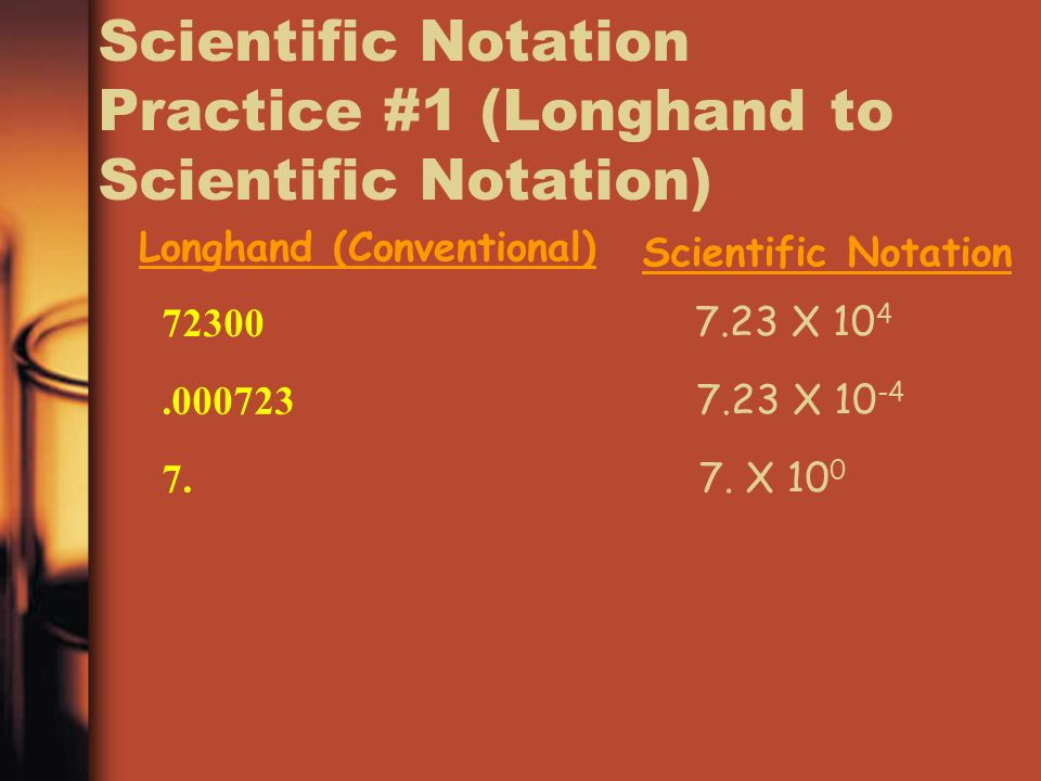 Scientific Notation Practice #1 (Longhand to Scientific Notation)