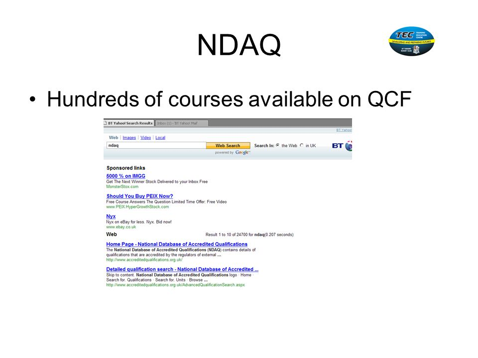 NDAQ Hundreds of courses available on QCF