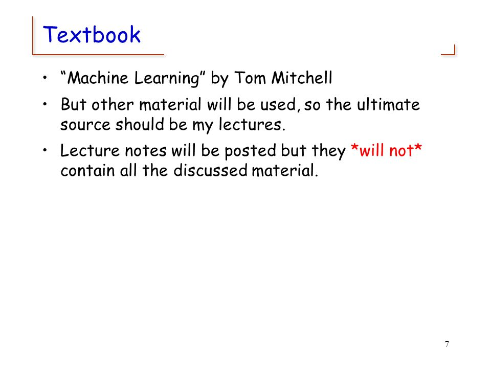 Machine Learning CS 165B Spring Ppt Download
