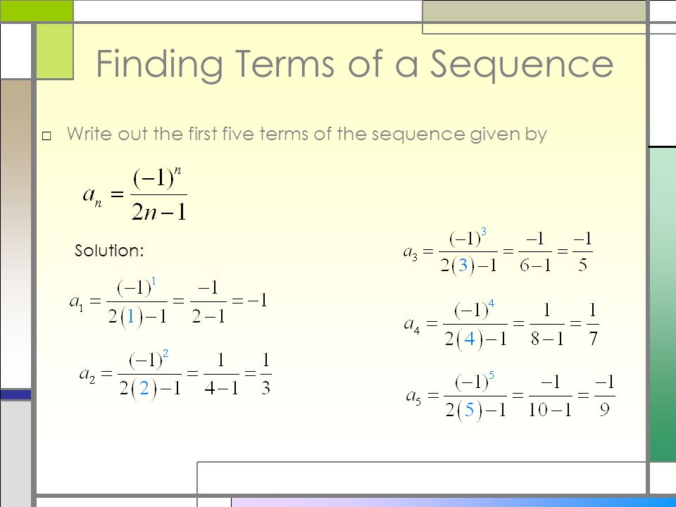 8 1 sequences and series essential questions how do we use sequence