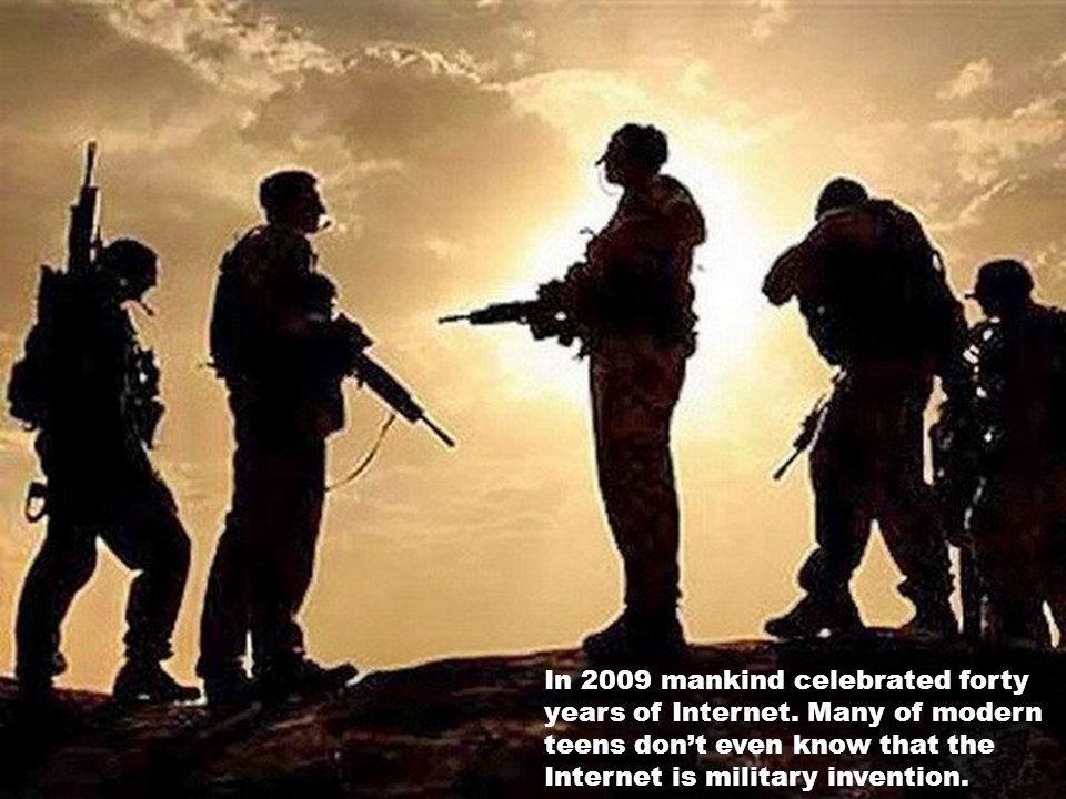 In 2009 mankind celebrated forty years of Internet