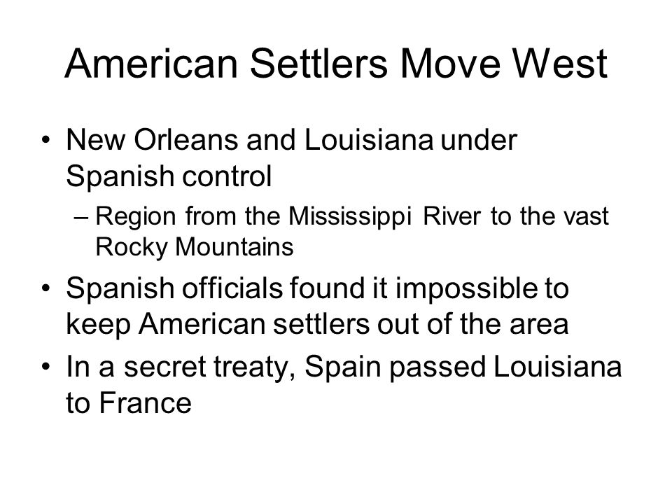 American Settlers Move West